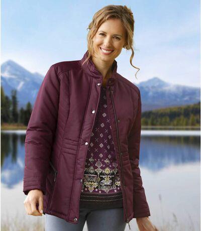 Women's Padded Jacket - Plum