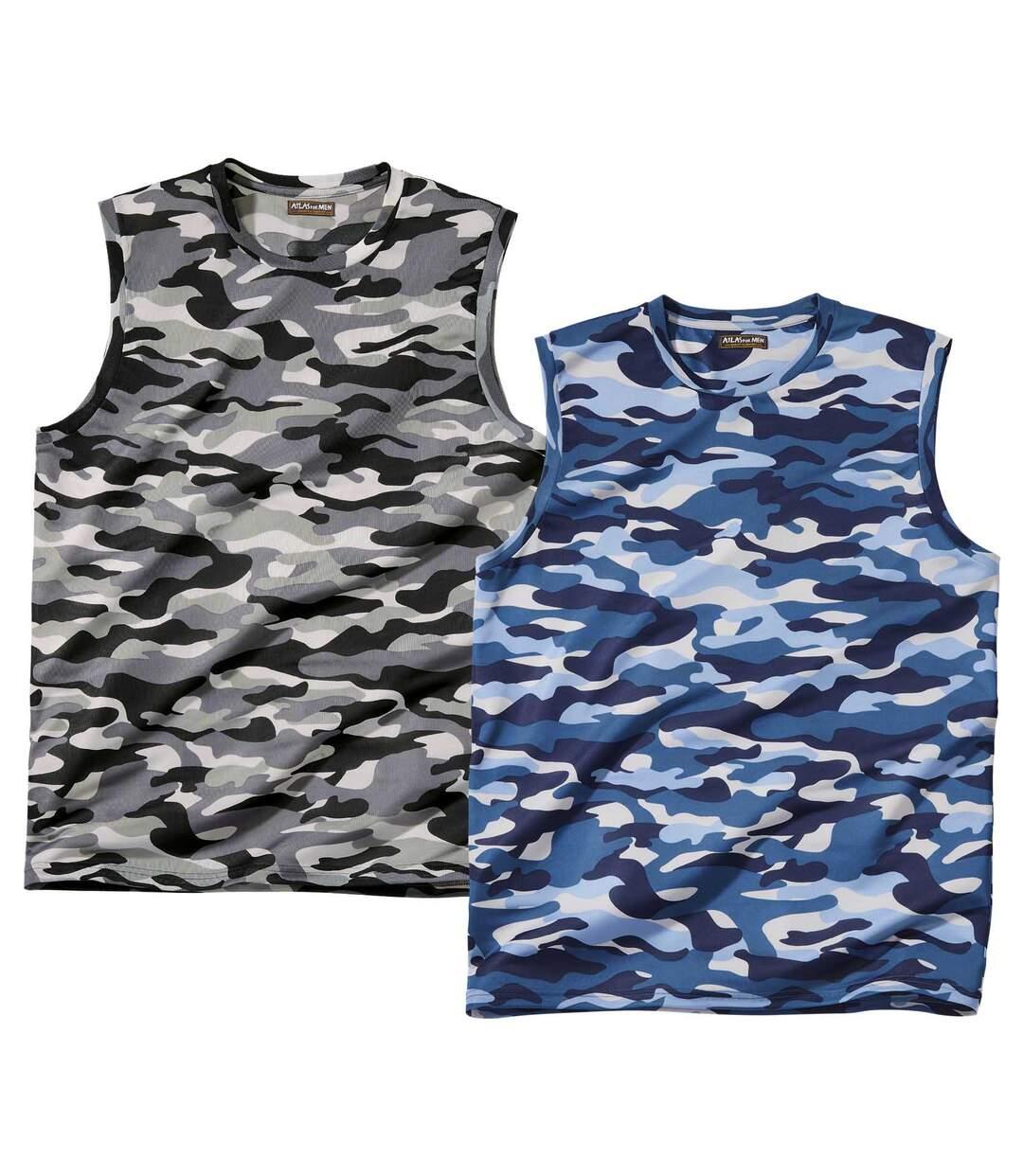 Lot de 2 Débardeurs Camouflage  Atlas For Men