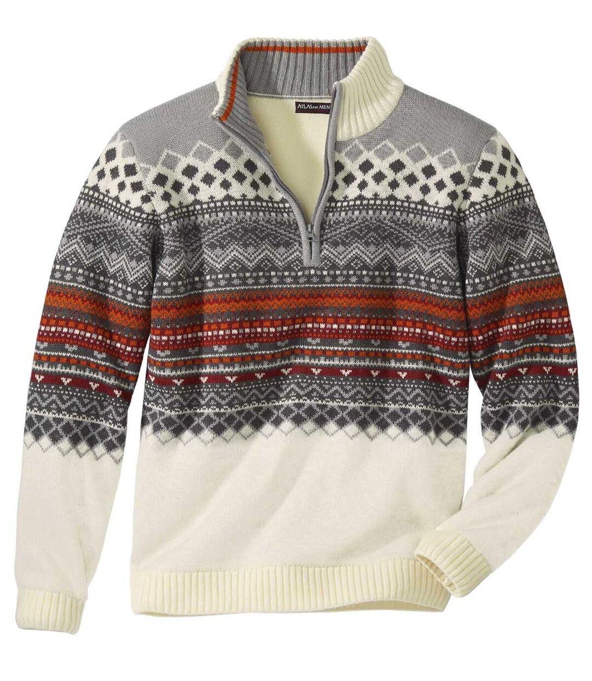 Jacquard trui met schipperskraag Atlas For Men