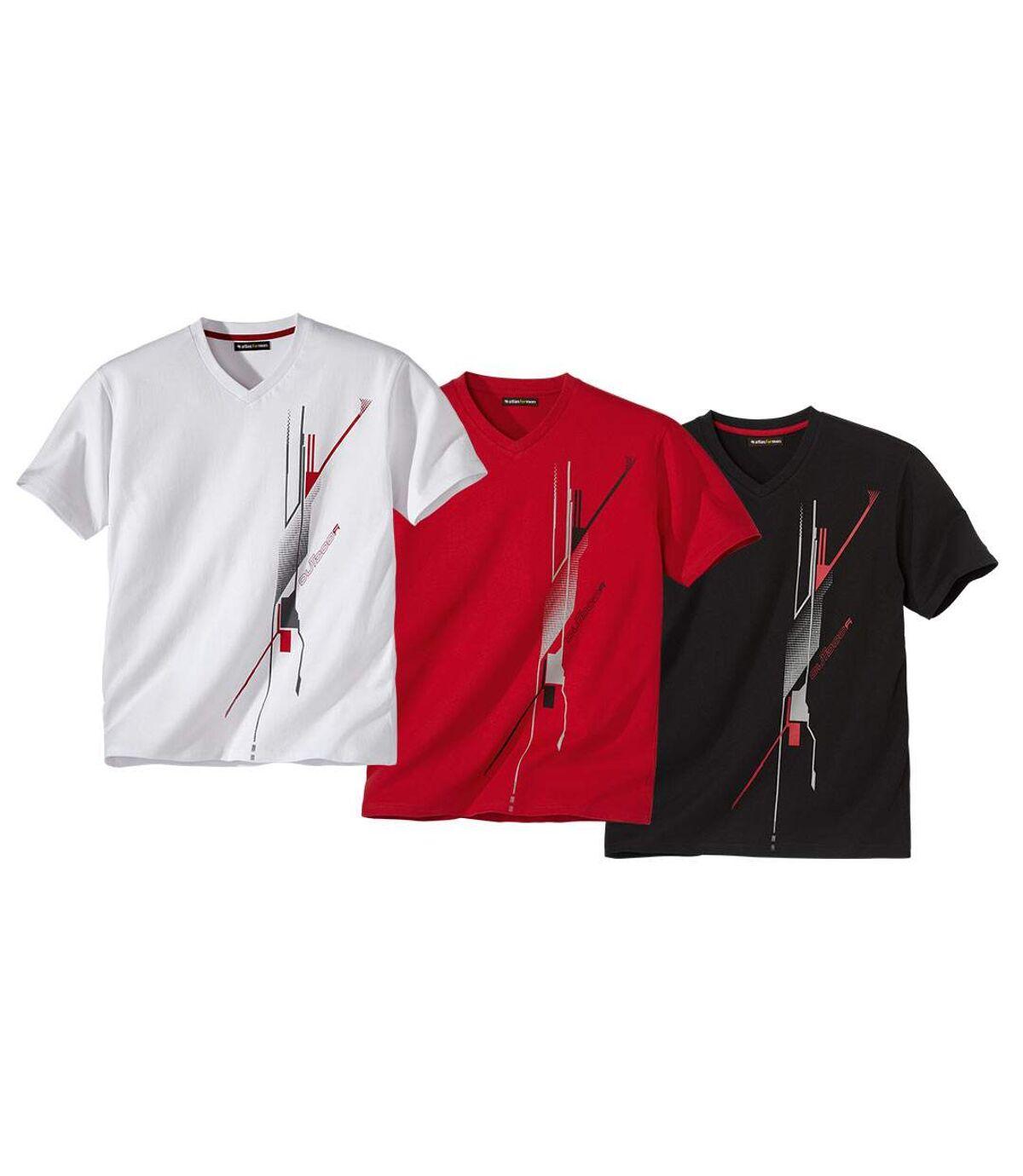 Set van 3 T-shirts met grafische print Atlas For Men