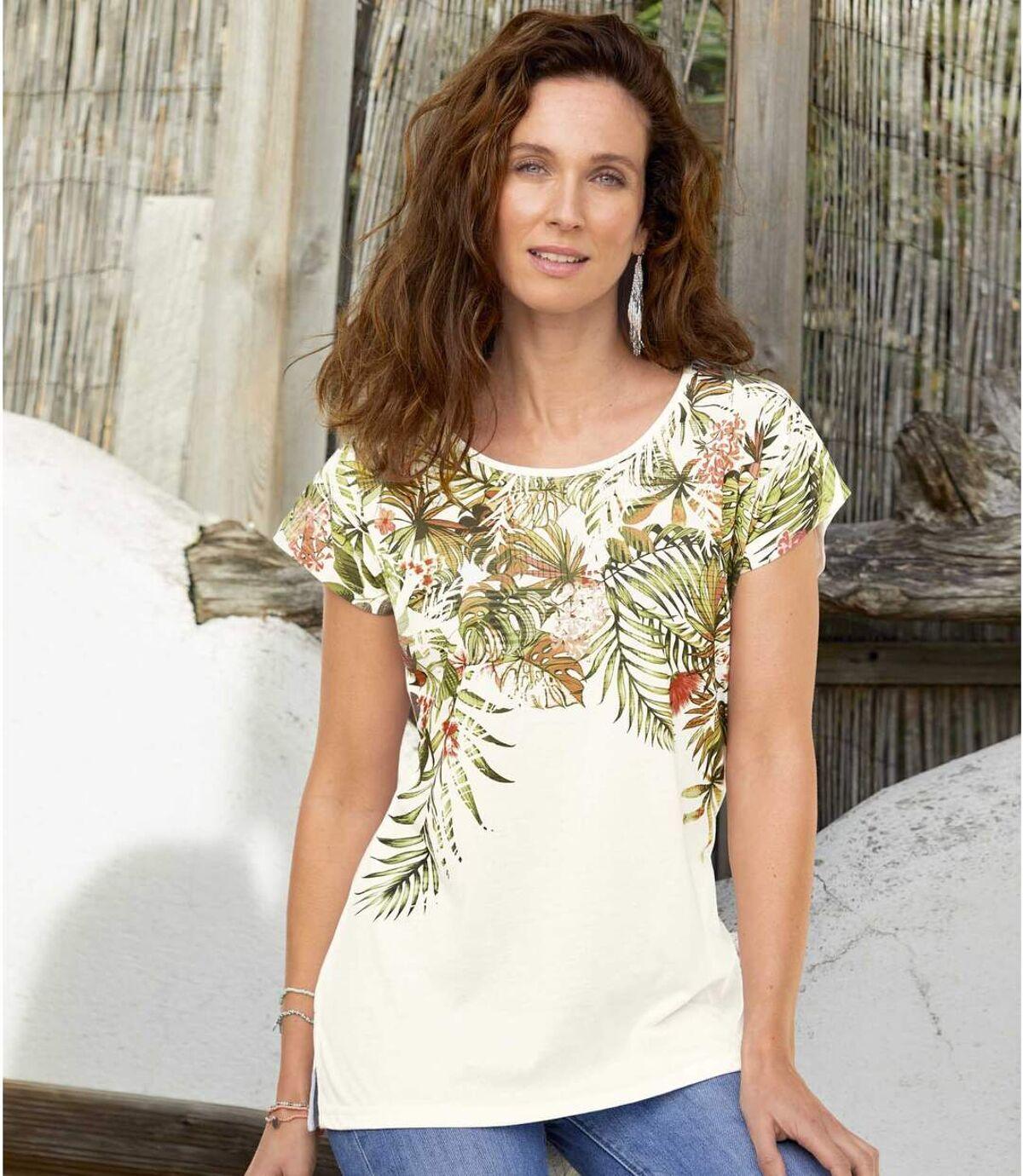 Lejąca bluzka z tropikalnym nadrukiem Atlas For Men