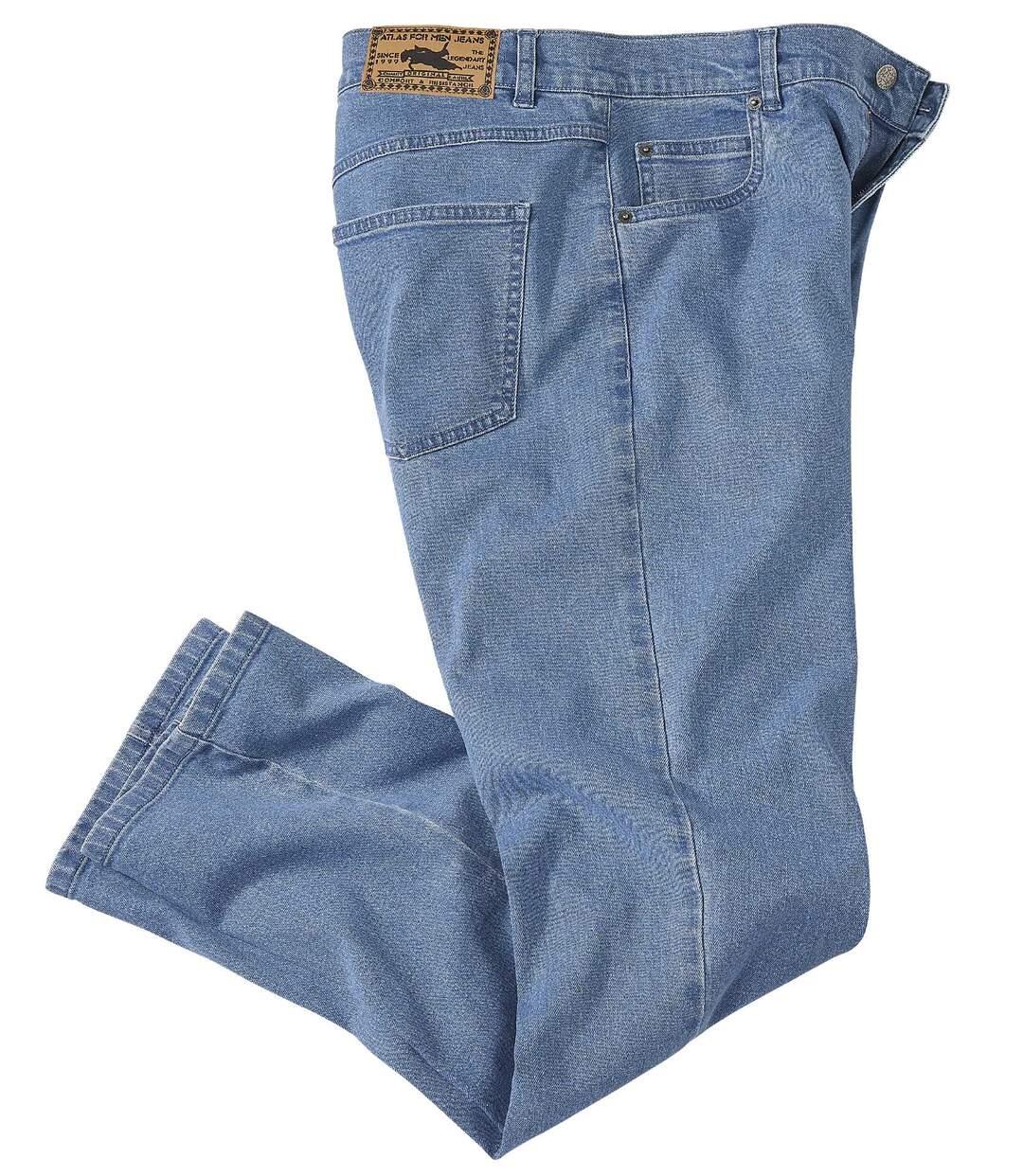 Niebieskie jeansy ze stretchem Regular