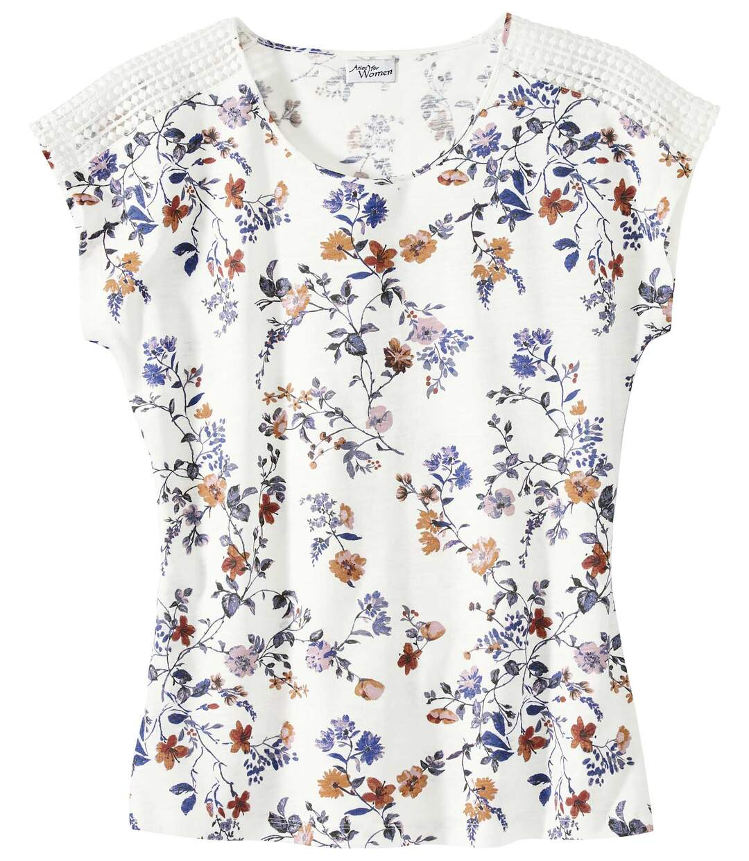 T-Shirt mit Makramée-Einsatz