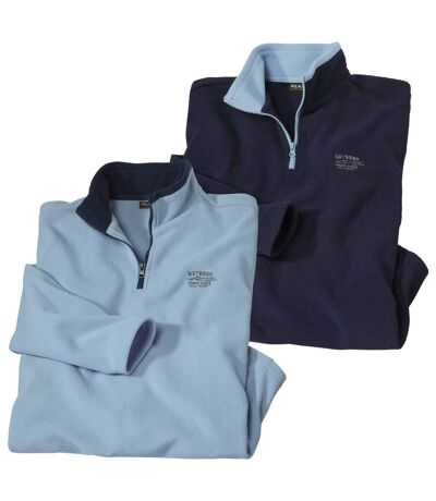 2er-Pack bequeme Microfleece-Pullover