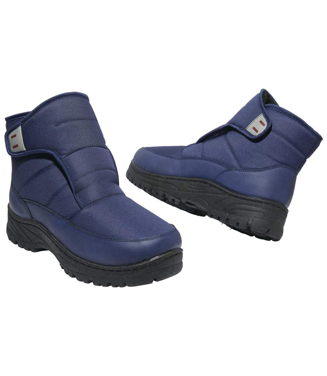 Men's Blue Sherpa-Lined Snow Boots - Water-Repellent