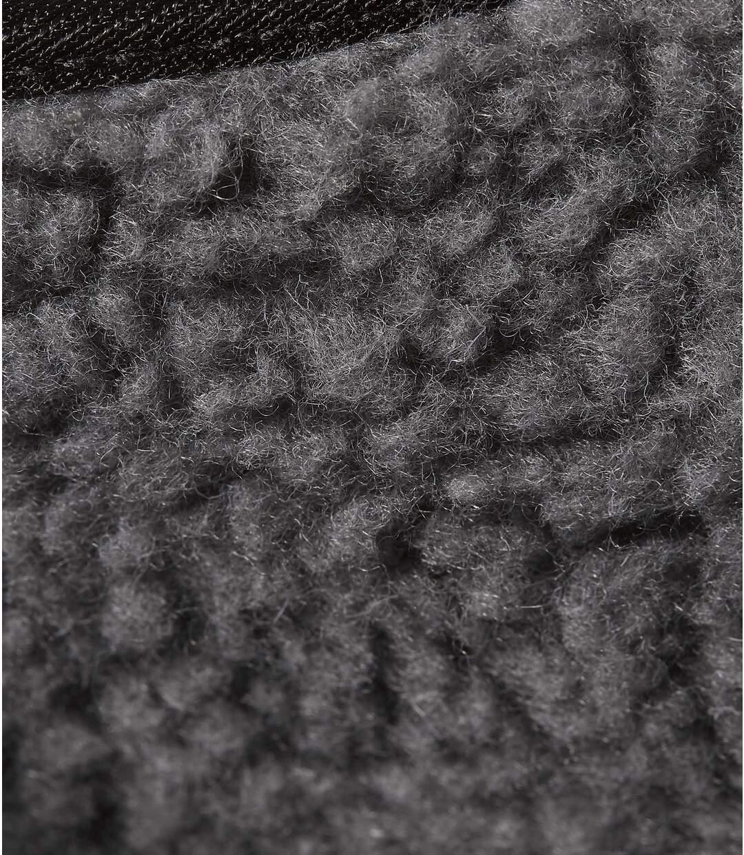 Bačkory na suchý zips podšívkou z umělé kožešiny