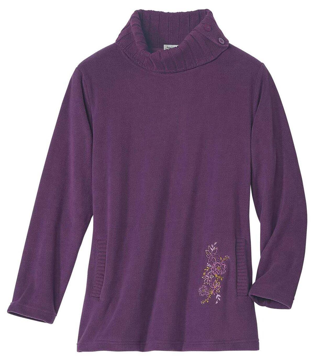 Tunika-Pullover aus Strick und Fleece Atlas For Men