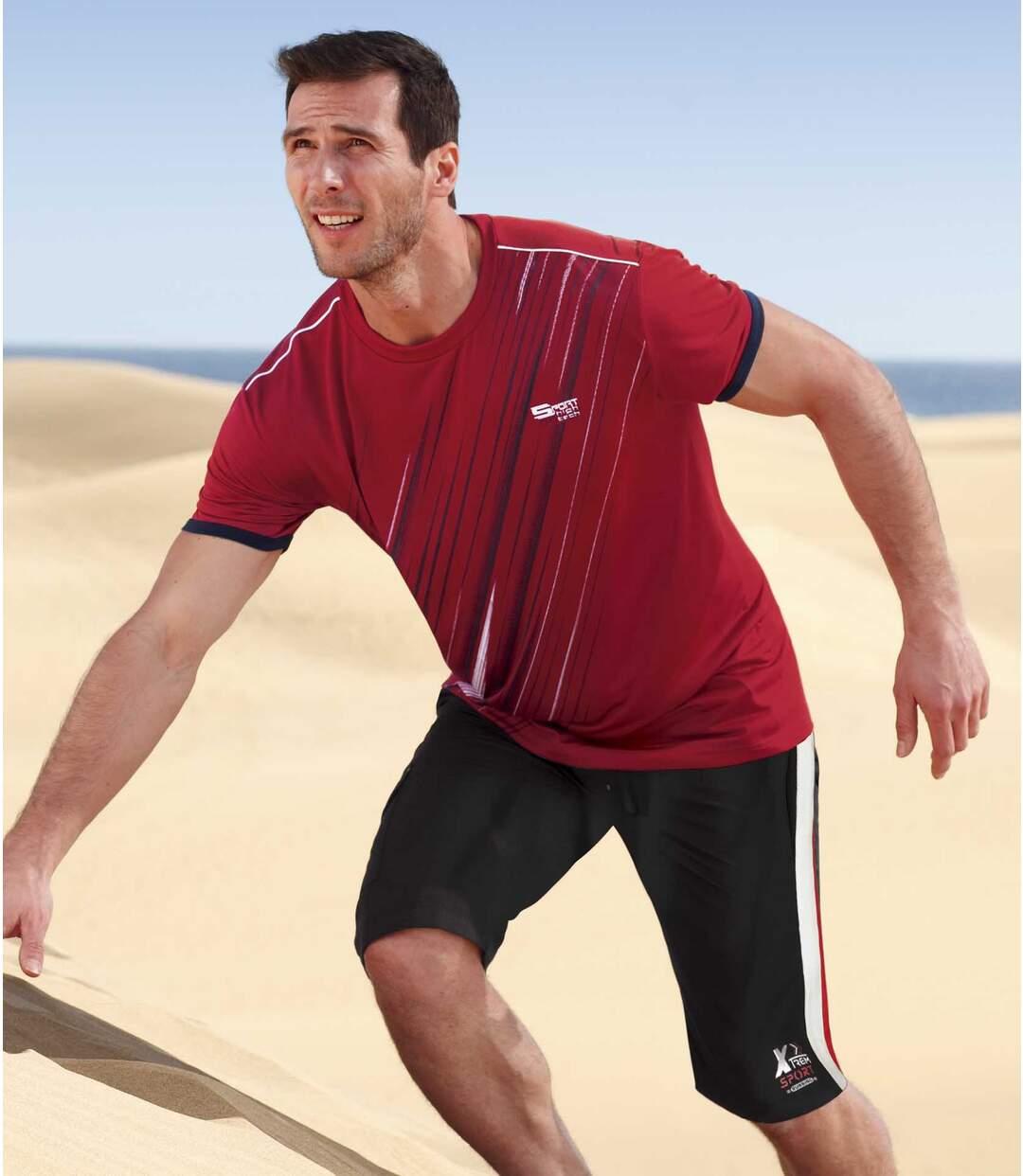 Men's Black Brushed Fleece Shorts Atlas For Men