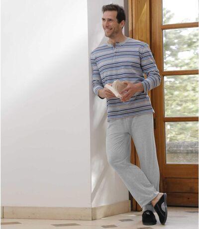 Men's Striped Pajama Set