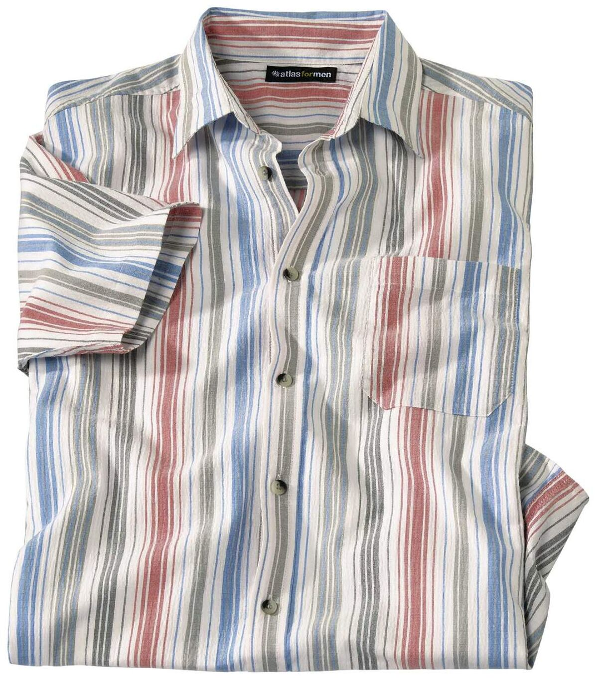 Letnia koszula z kreponu w paski Atlas For Men