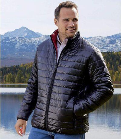 Men's Lightweight Mountain Puffer Jacket - Black - Water-Repellent