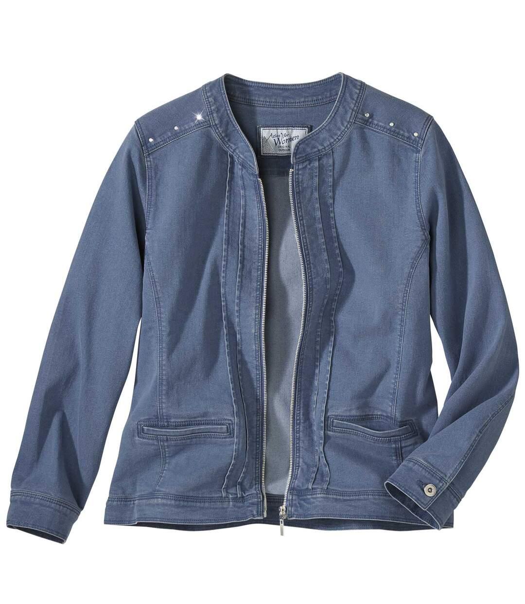 Pohodlná bunda zo strečovej džínsoviny