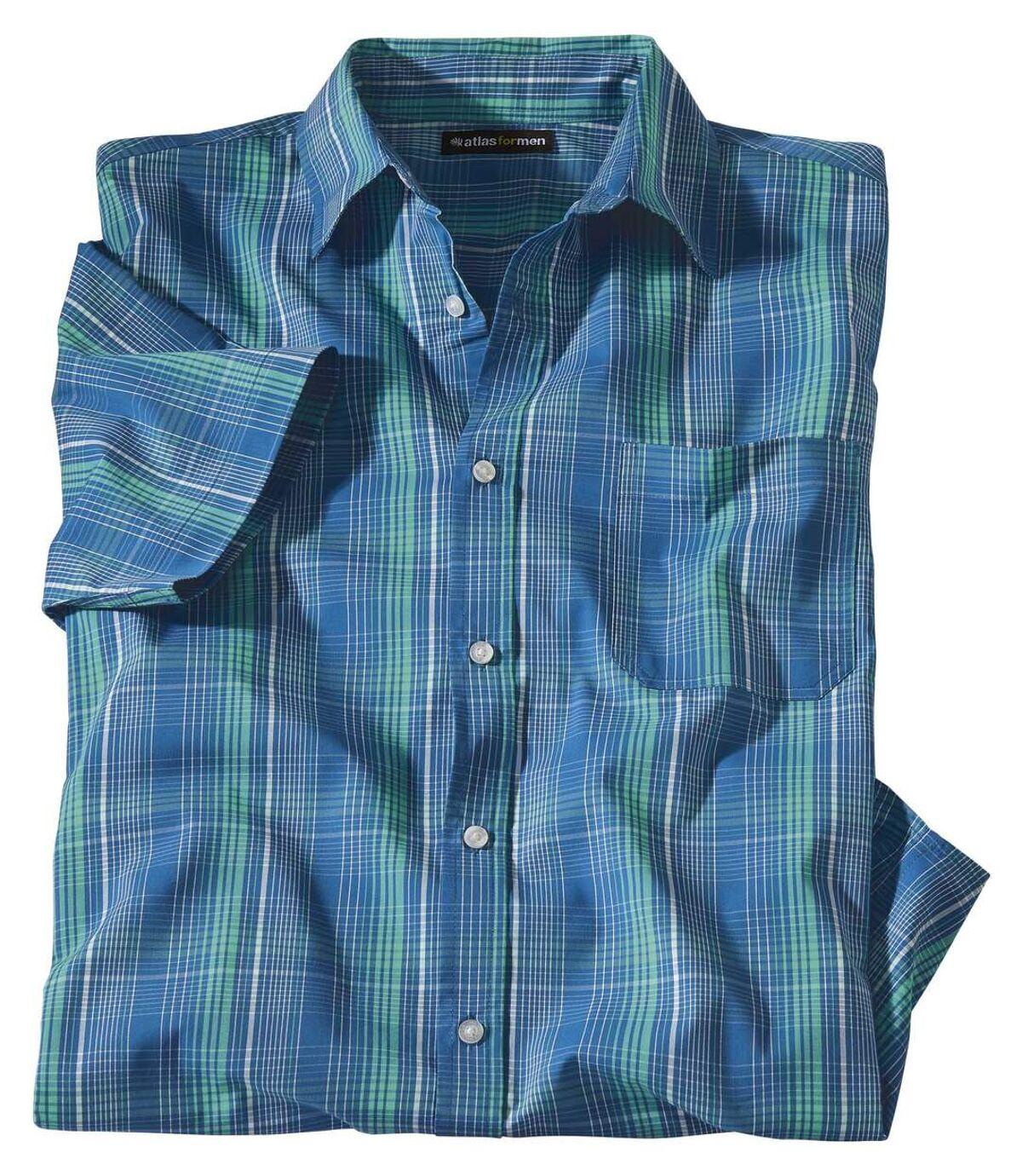 Geruit overhemd met stretch Atlas For Men