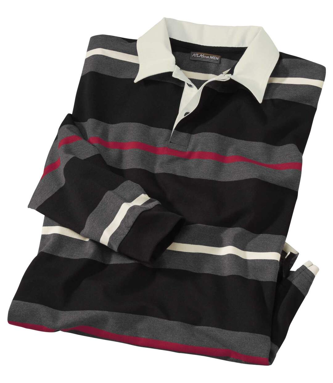 Men's Striped Polo Shirt - Jersey