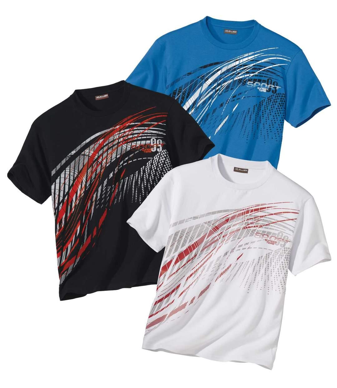 Sada 3 triček Sport Summer