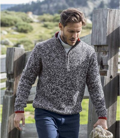 Men's Stylish Navy Knitted Sweater