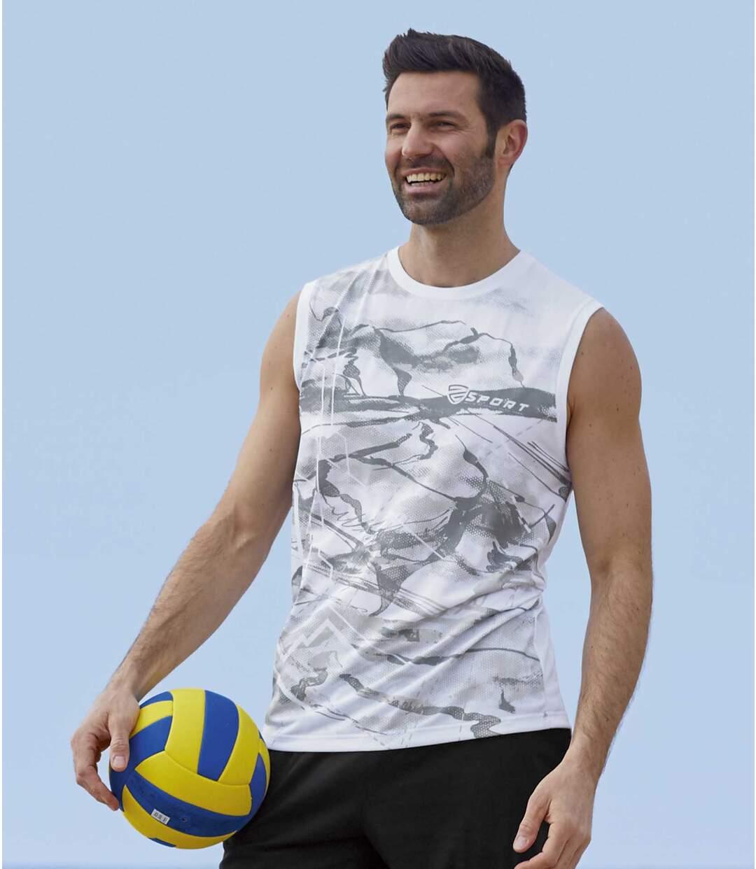 Lot de 2 Tee-Shirts Sport Sans Manches Atlas For Men