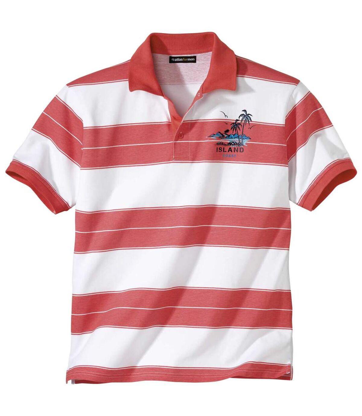 Športové prúžkované polo tričko Atlas For Men
