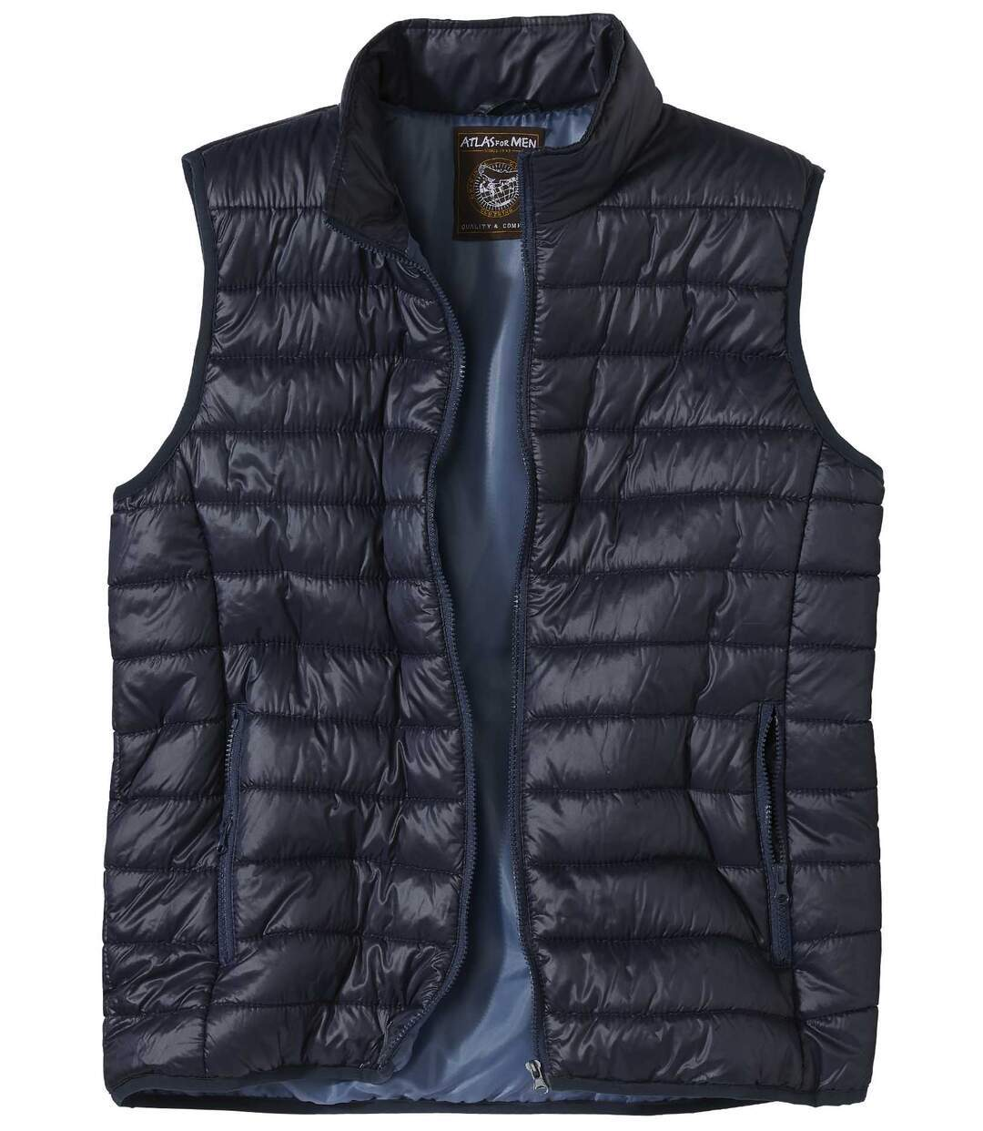 Men's Navy Quilted Padded Gilet