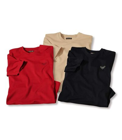 Pack of 3 Men's Soft T-Shirts