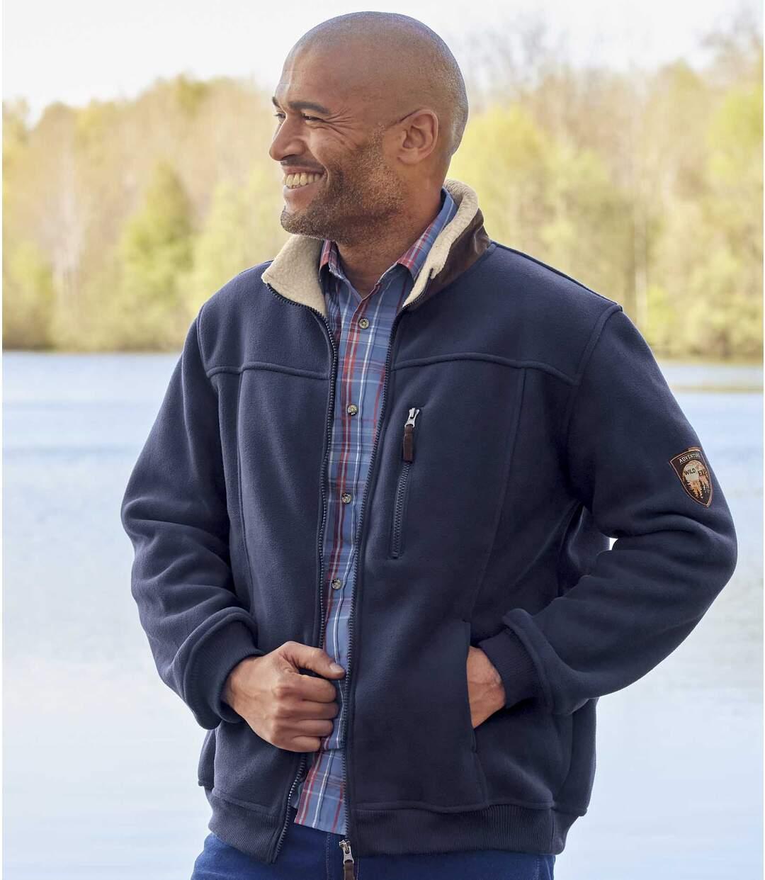 Men's Full Zip Sherpa-Lined Fleece Jacket Atlas For Men