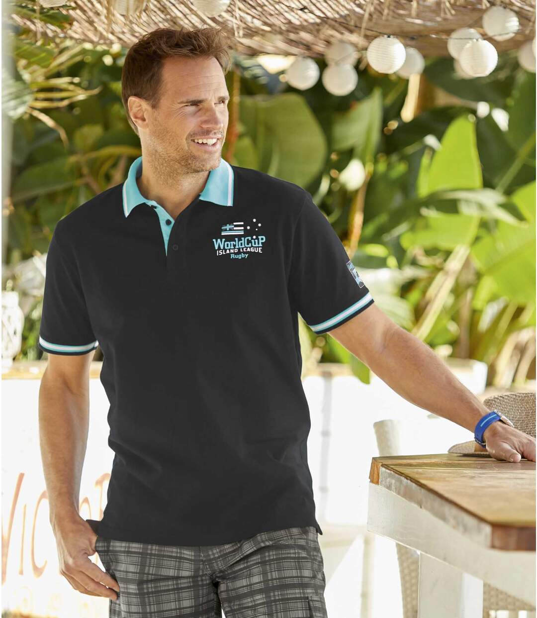 2er-Pack Piquée-Poloshirts Island League