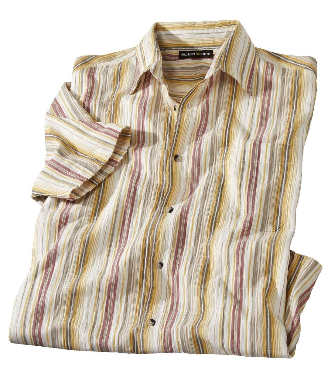 Koszula  z kreponu w paski Alizée Atlas For Men