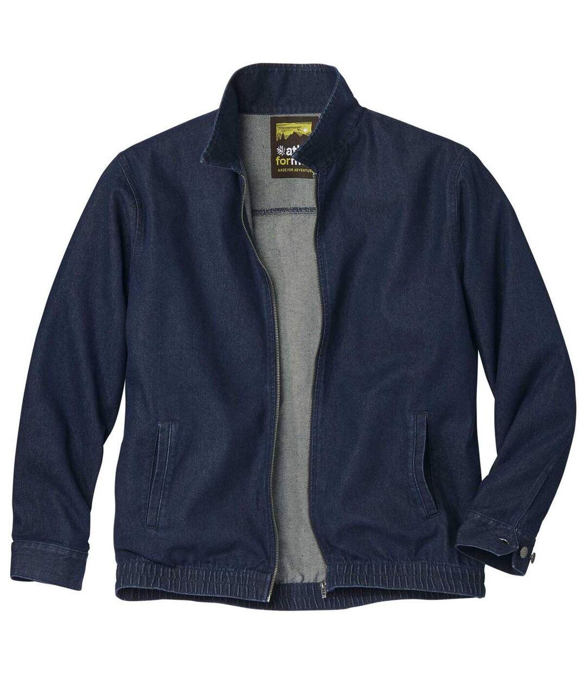 Jeansowa kurtka z suwakiem Atlas For Men