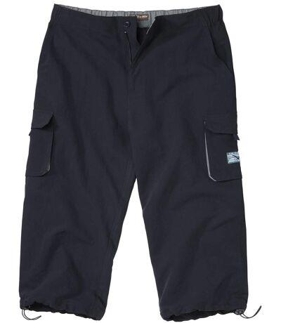 Men's Navy Cropped Cargo Pants