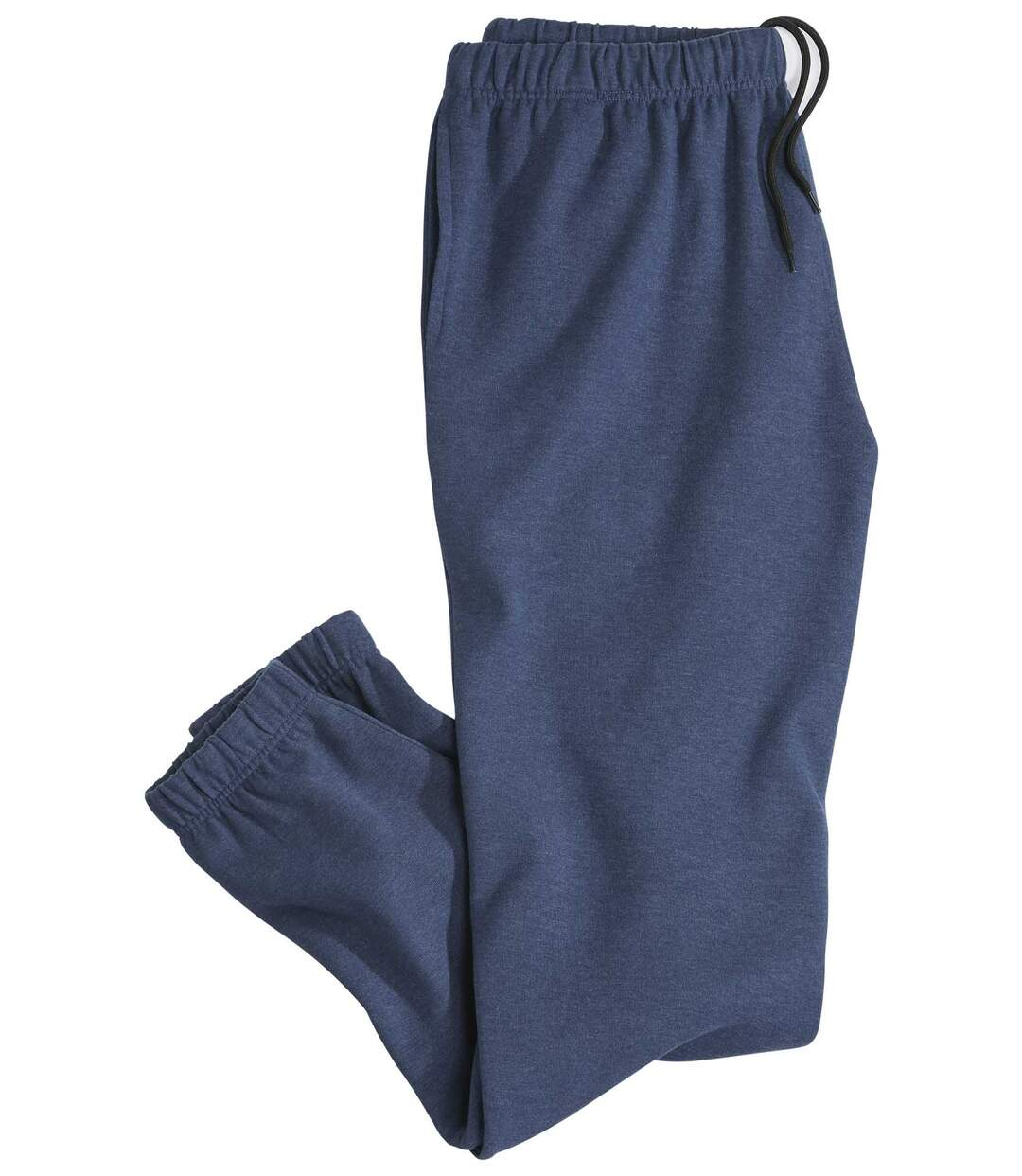 Mens Blue Casual Brushed Fleece  Joggers
