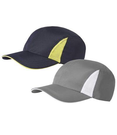 Pack of 2 Men's Summer Baseball Caps - Gray Navy