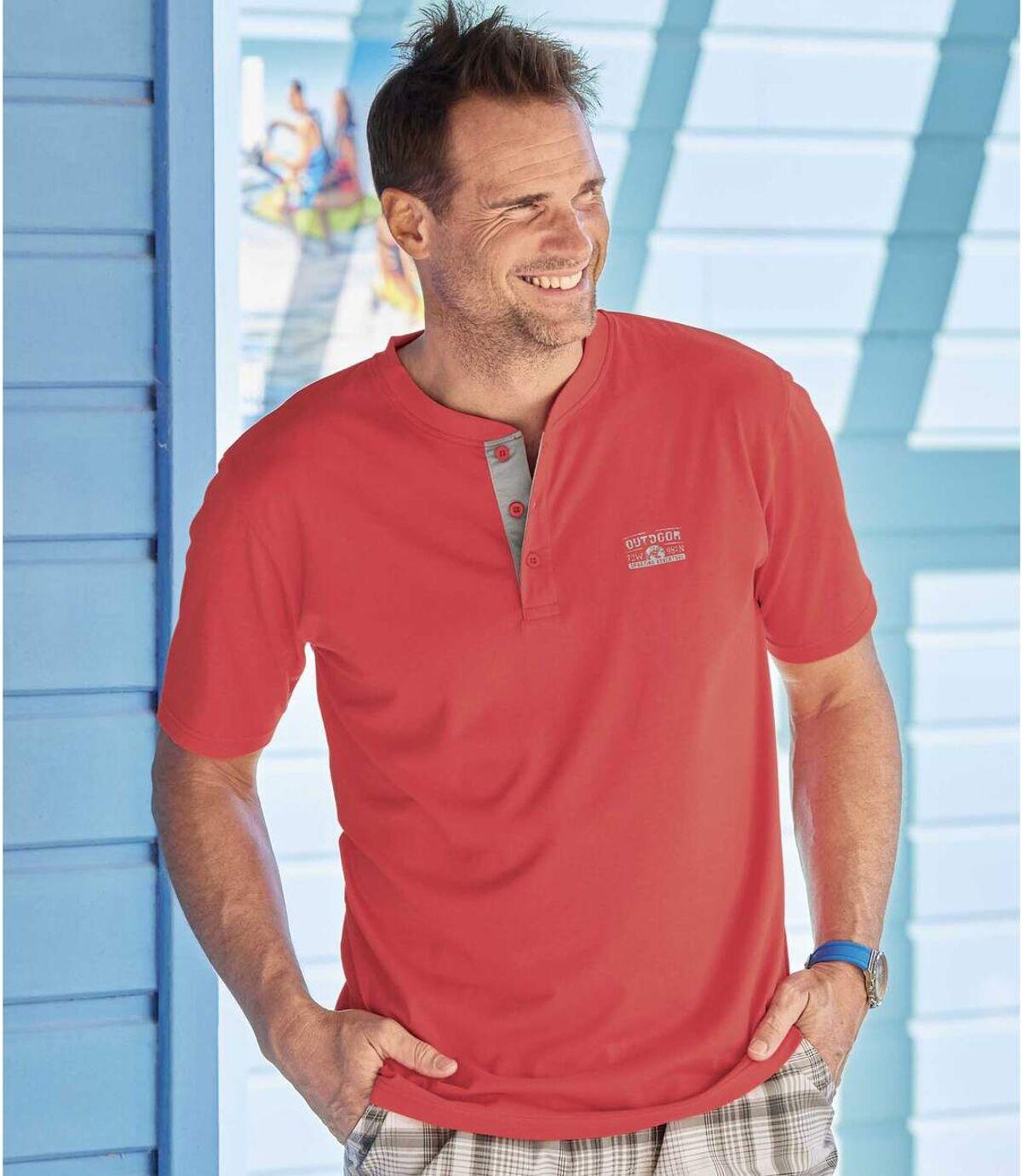 Zestaw 3 t-shirtów z dekoltem z guzikami Outdoor Atlas For Men
