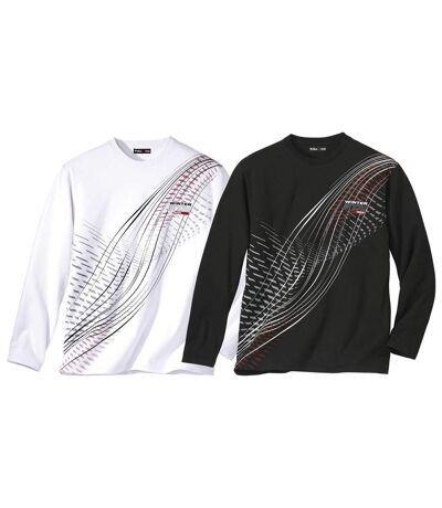 2er-Pack langärmelige T-Shirts Winter Snow