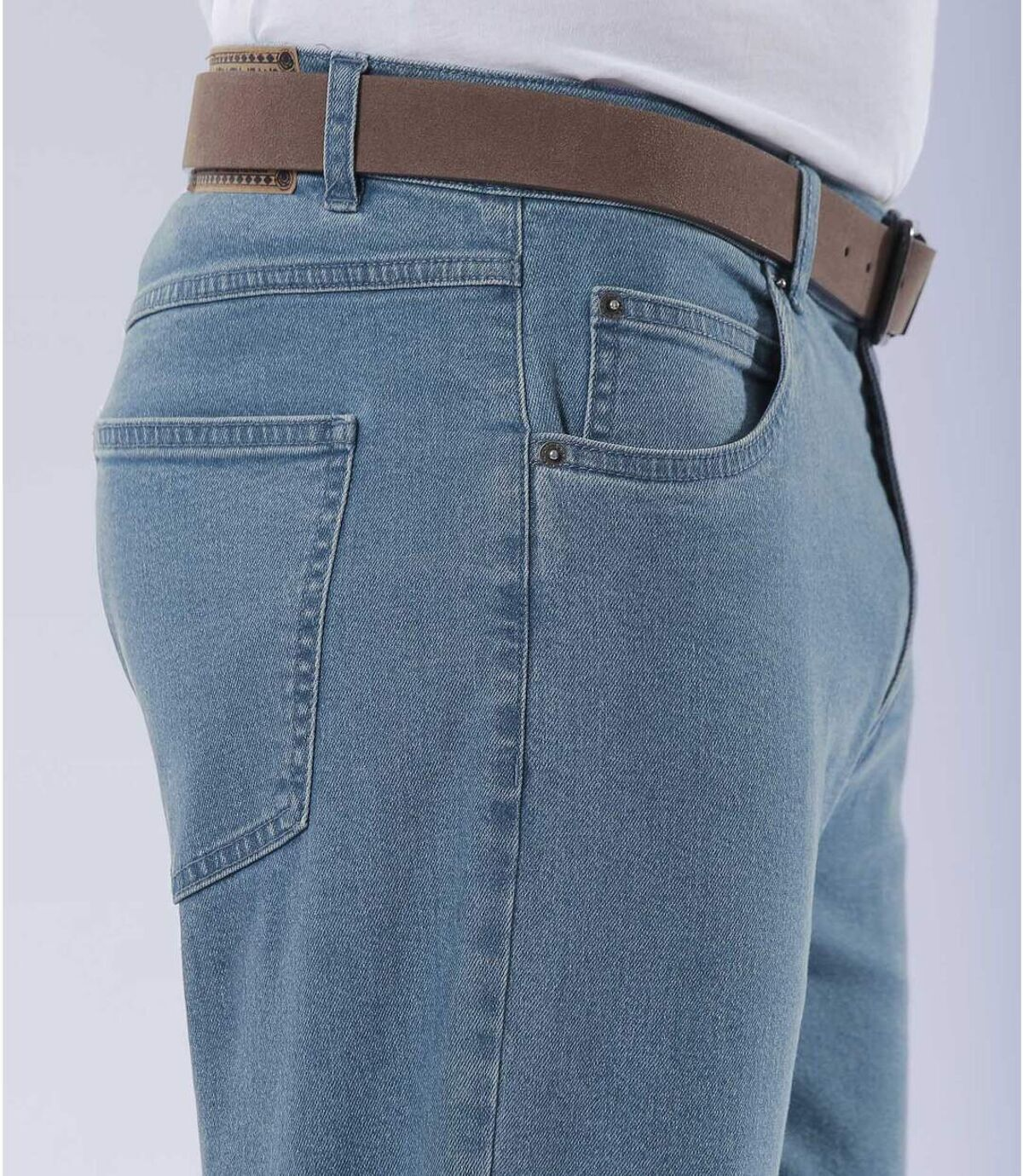 Jeans Regular Stretch Bleu Délavé Atlas For Men