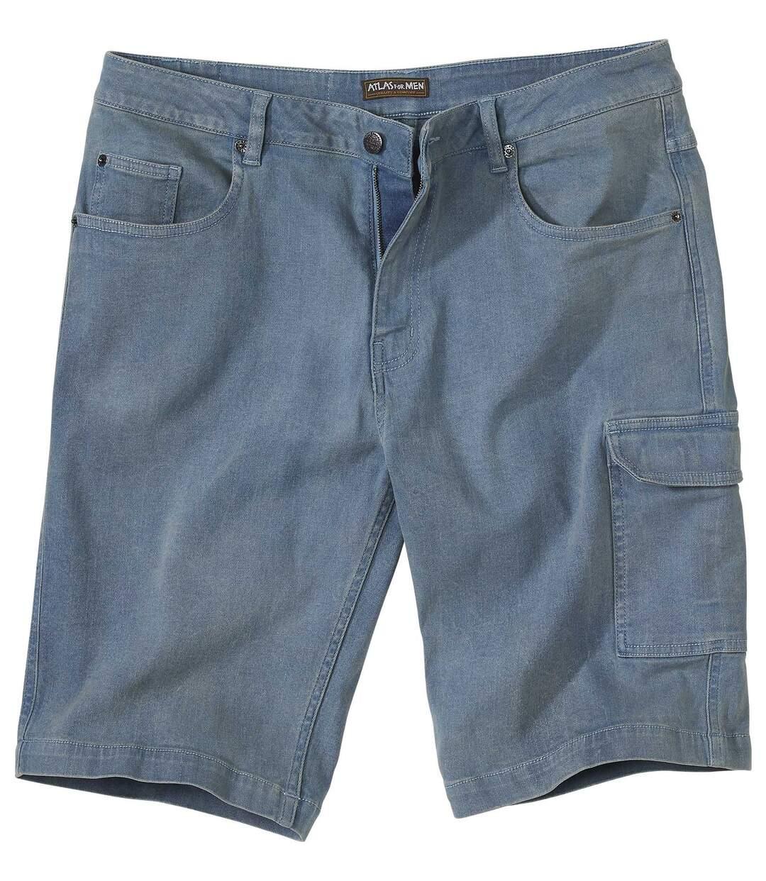Zomerbermuda van stretch jeans