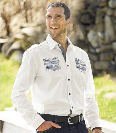 Men's White Expedition Poplin Shirt