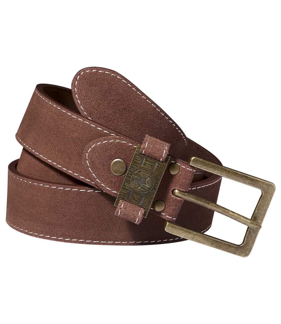 Men's Brown Western Belt