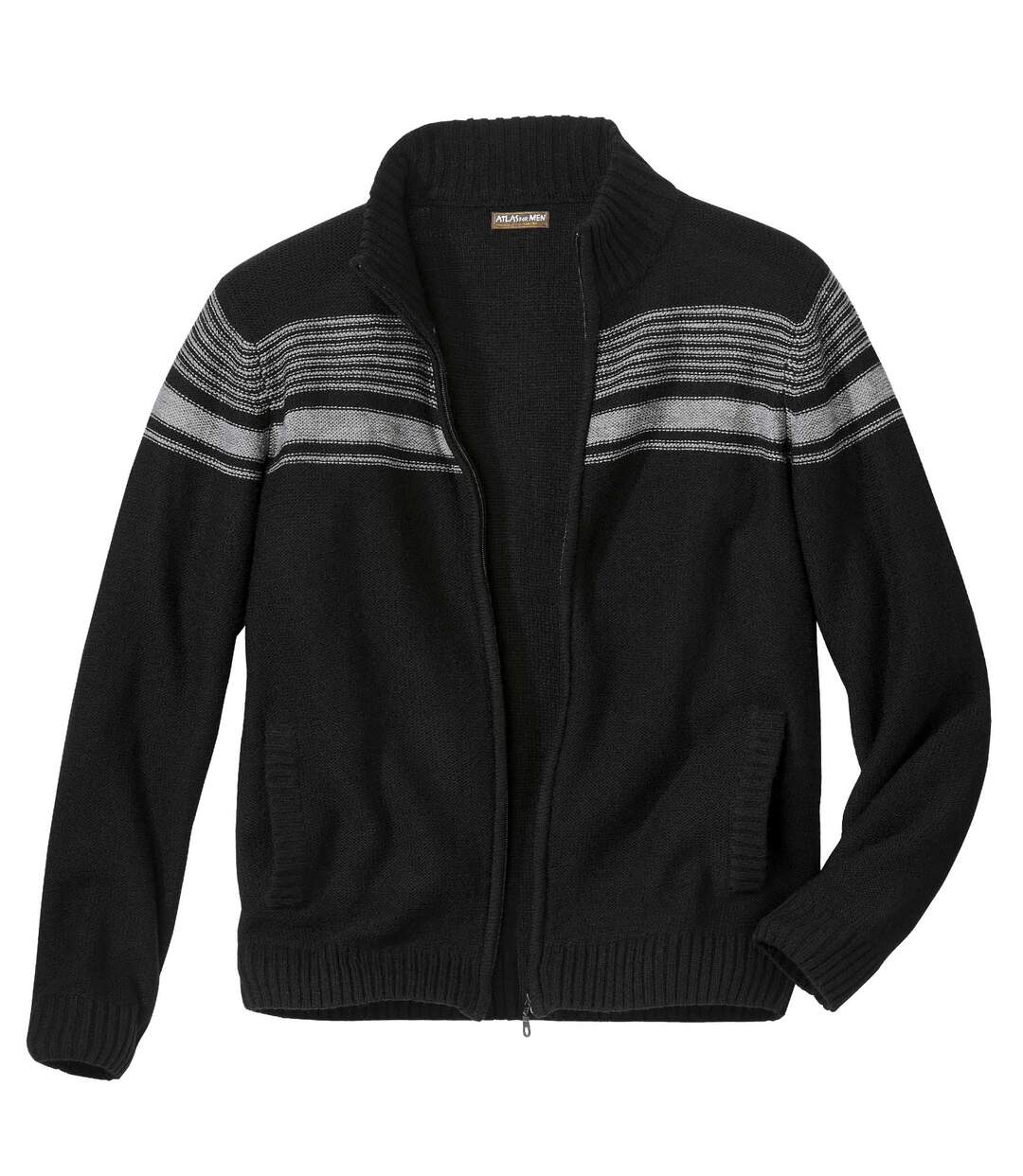 Pletený sveter na zips West City