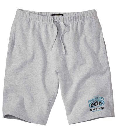 Men's Grey Brushed Fleece Shorts