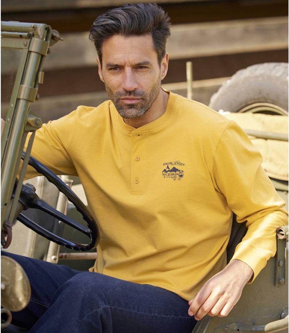 Zestaw 2 t-shirtów z dekoltem z guzikami Wild Eagle Atlas For Men