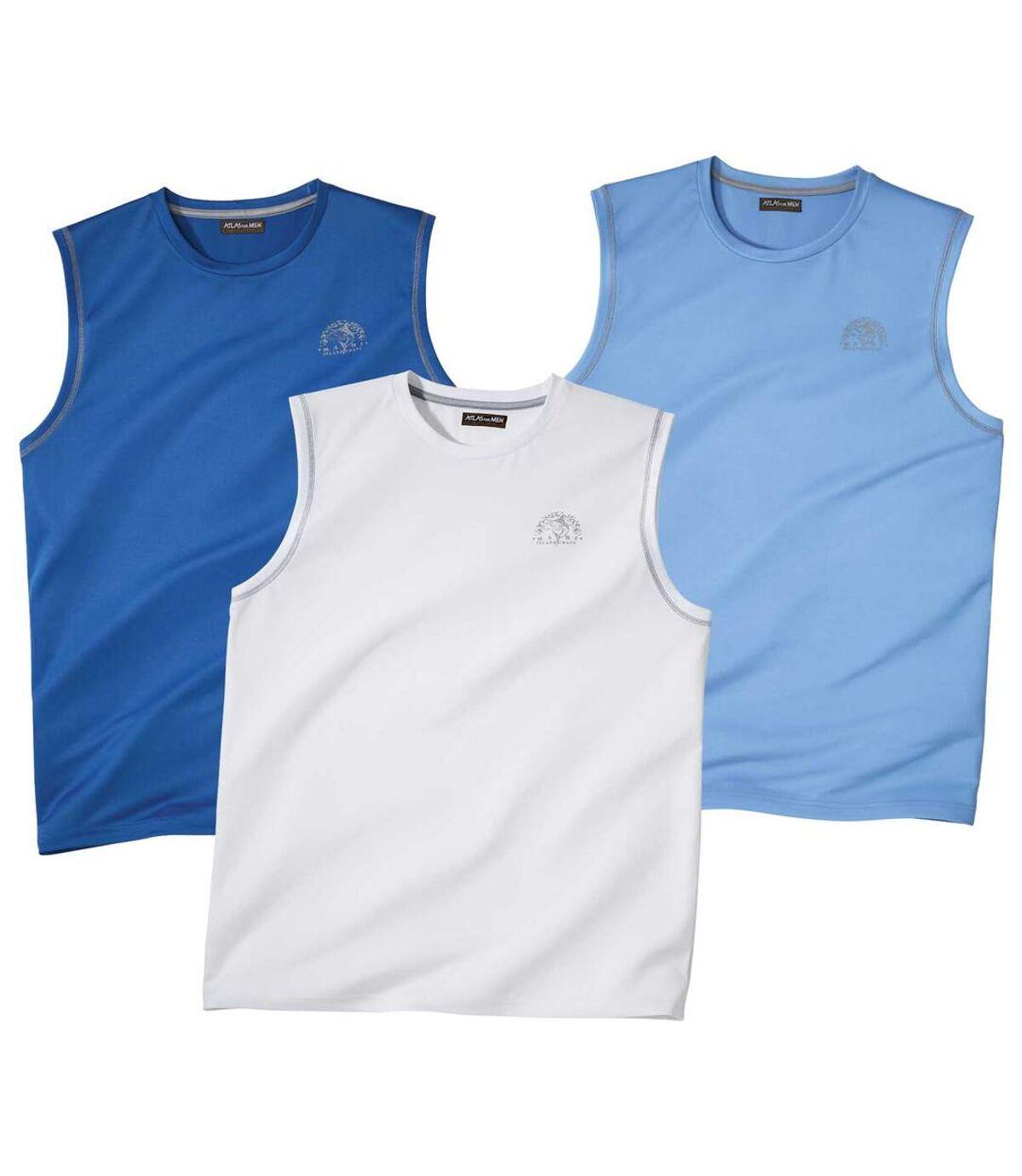 Set van 3 mouwloze Beach Energy T-shirts Atlas For Men