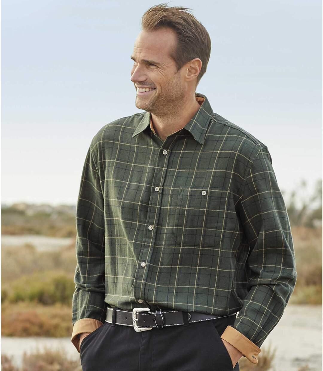 Grün-Kariertes Hemd