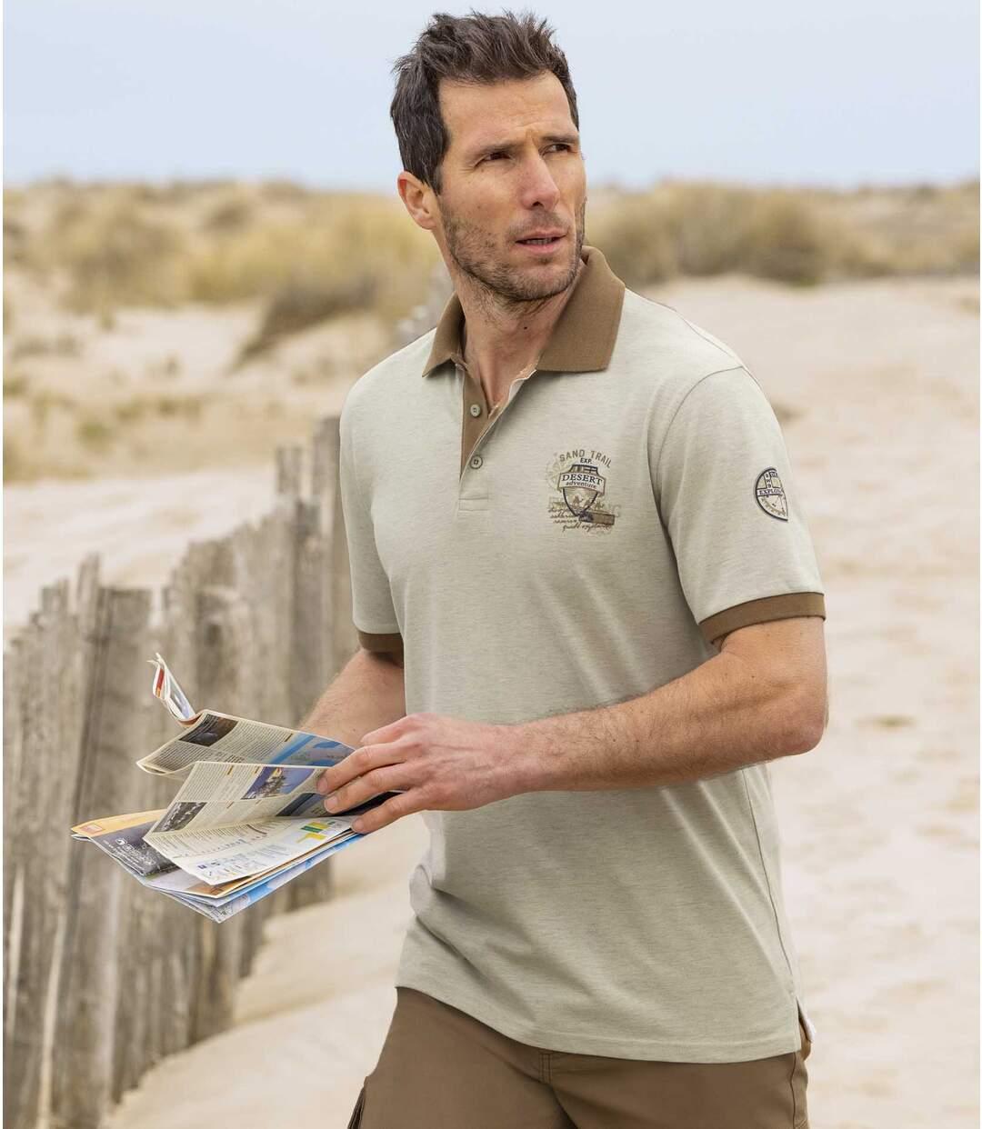 Sada 2 polo triček Sand Trail zbavlněného piké Atlas For Men