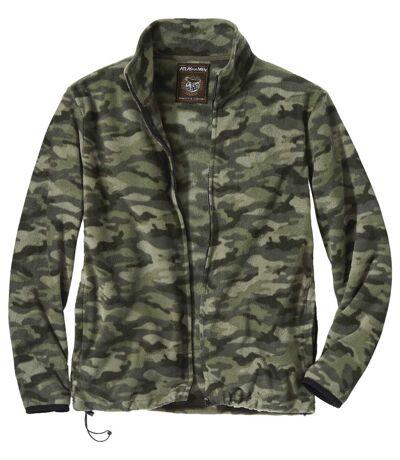 Men's Camouflage Microfleece Full Zip Jacket