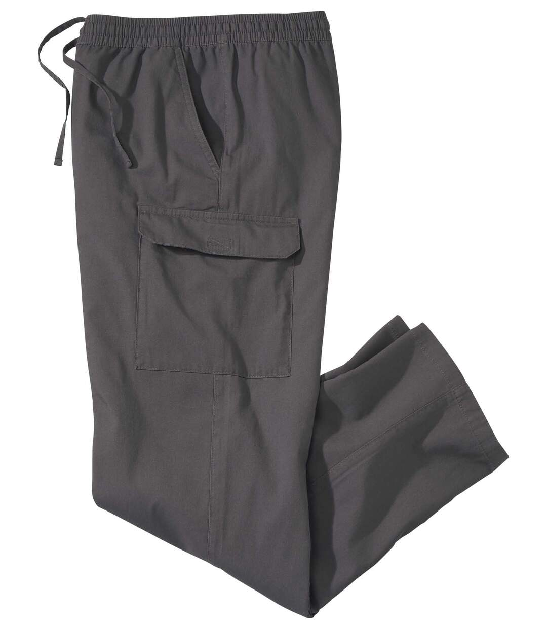 Men's Casual Cargo Trousers - Dark Grey