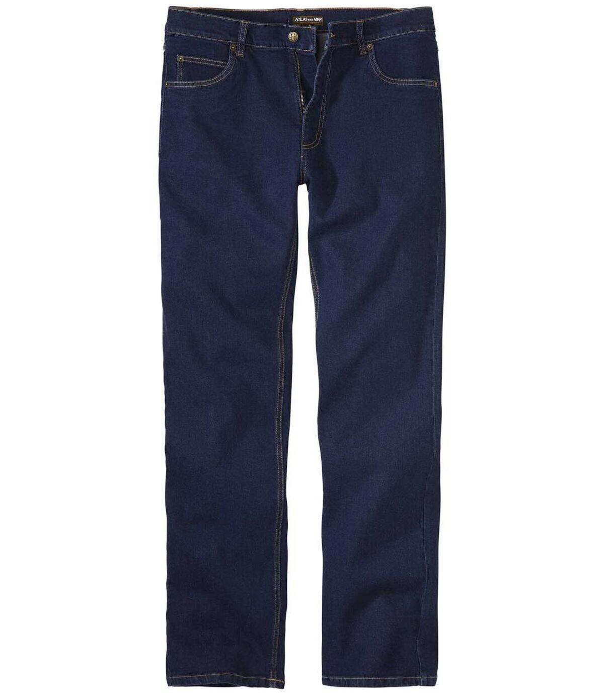 Modré strečové džíny rovného střihu Atlas For Men