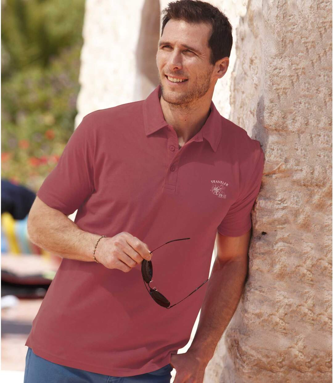 3er-Pack sommerliche Poloshirts