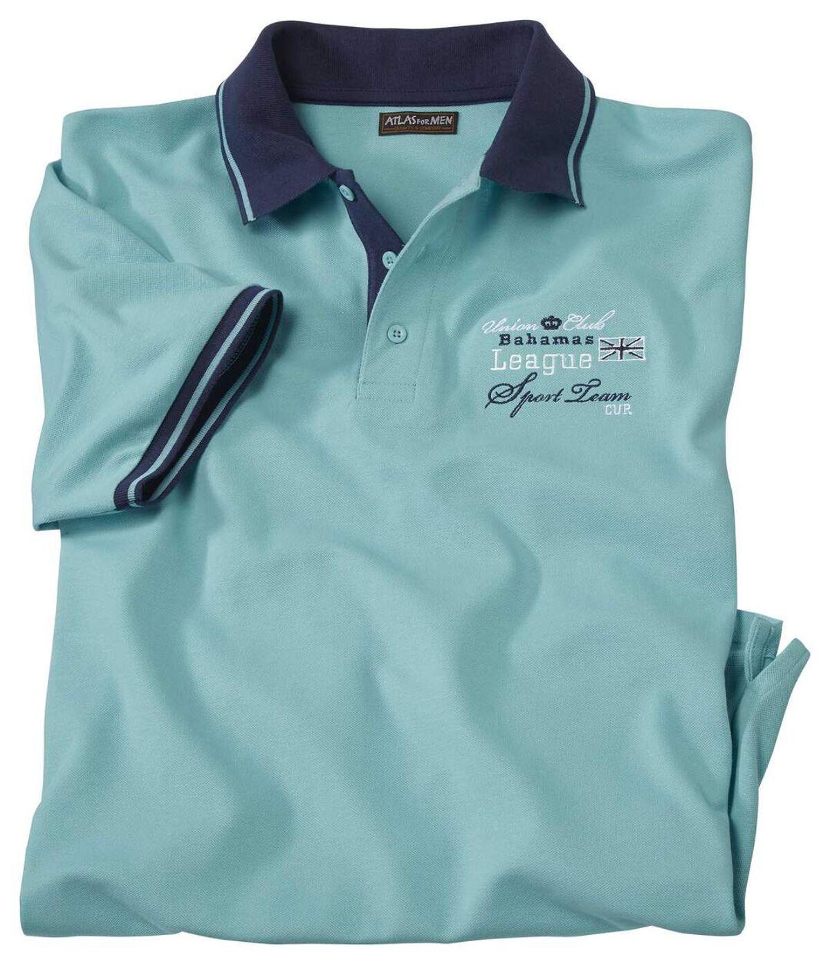 Men's Turquoise Short Sleeve Polo Shirt Atlas For Men