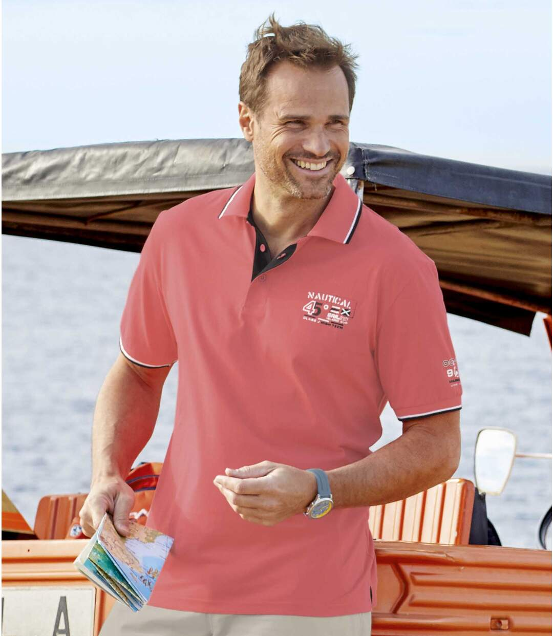 2er-Pack Poloshirts Nautical Sailing