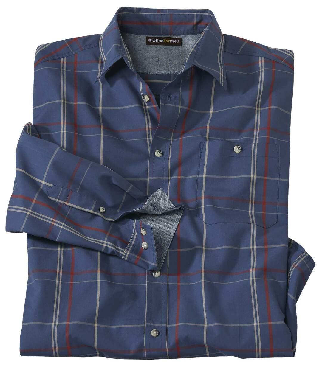Koszula z popeliny w kratę